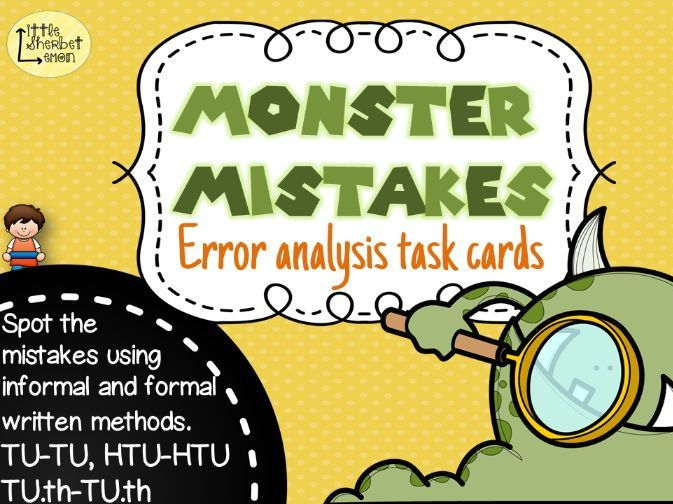 Error Analysis / Spot the Mistake Task Cards for Written Subtraction Methods Yr 3 & 4