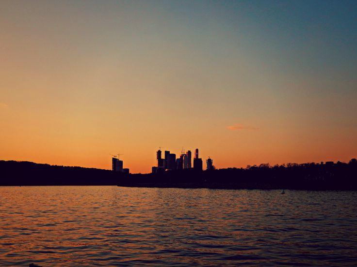 Москва-Сити и Москва-Река на закате / CBD e Moscova al tramonto