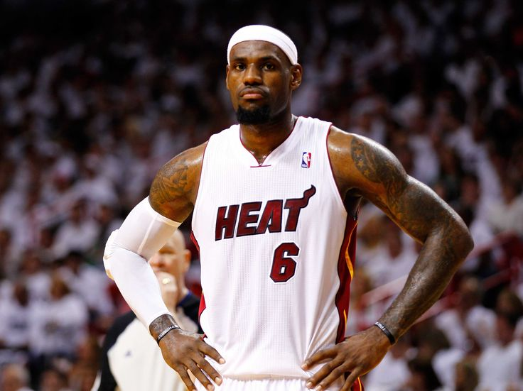 LeBron James has led the Miami Heat to 4 consecutive NBA Finals appearances, each season that he has been a member of the organization since 2010. Description from sportsfan1984.com. I searched for this on bing.com/images