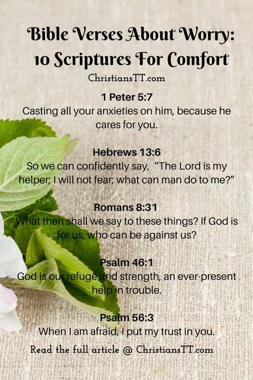 Bible Verses About Worry: 10 Scriptures For Comfort | Prayer board