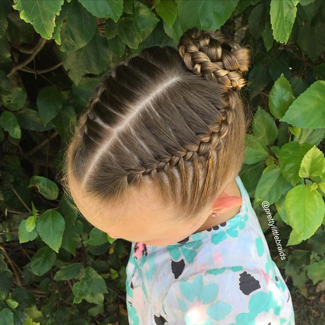 """ French braids to a braided bun! "" Photo taken by @prettylittlebraids on Instagram, pinned via the InstaPin iOS App! http://www.instapinapp.com (12/13/2015)"