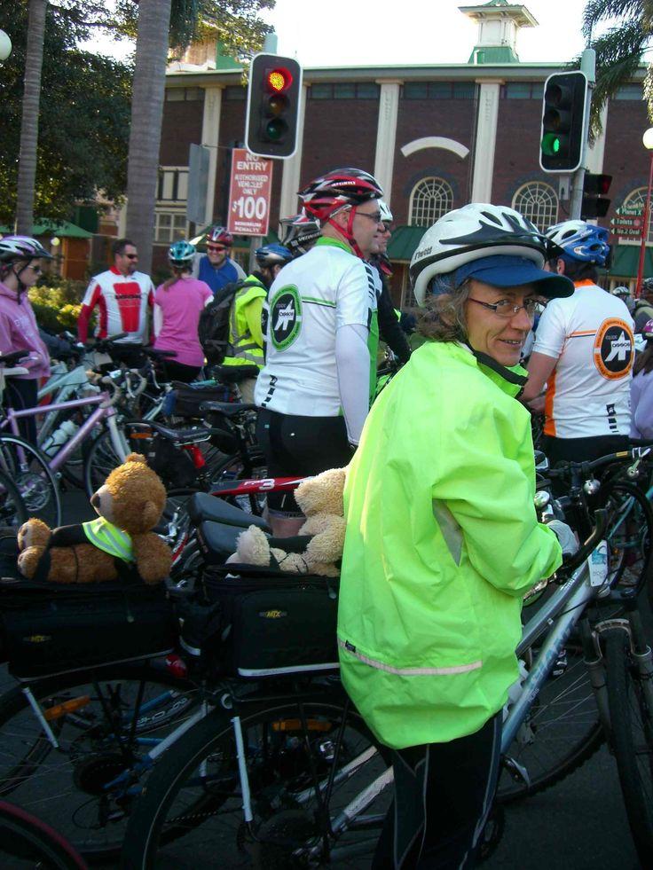 #teddies heading on #cycling #race. www.teddybearlife.com