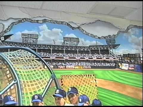 1000 ideas about baseball painted walls on pinterest for Baseball field wall mural