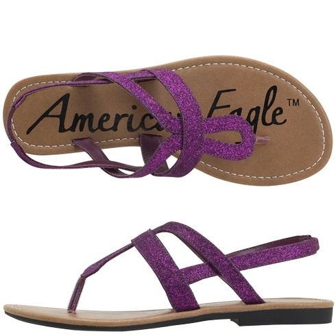 my sister wants these. Pretty pretty!: Prom Shoes, Purple Shoes, Summer Sandals, Purple Sandals Flats, Pretty Pretty, Wedding Ideas, Color, Bridesmaid Shoes, American Eagles