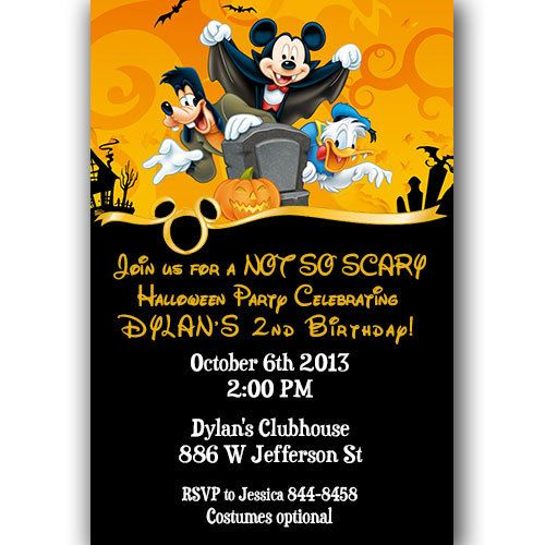 Best Dylans Not So Scary Halloween Nd Birthday Party Images - Halloween birthday invitations etsy