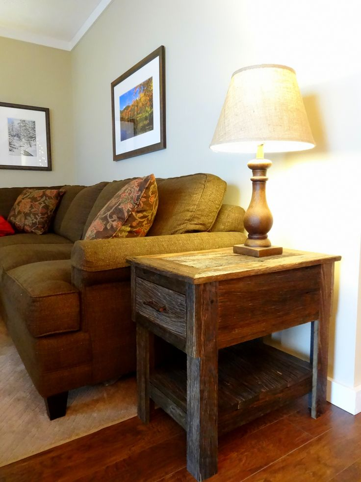 Rustic Barnwood End Table by High Country Cabinets of Banner Elk, NC