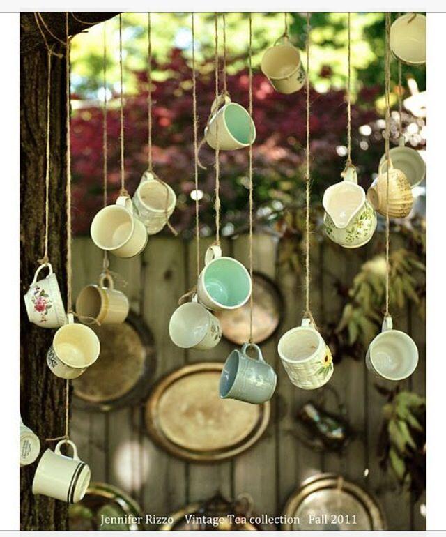 Tea cups for your décor...creative!