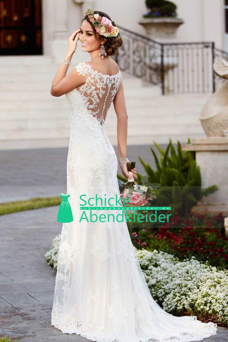 2016 Mermaid Brautkleider weg von der Schulter-Tulle mit Sweep Zug