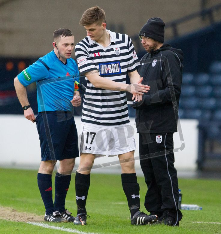 Queen's Park's Cammy Foy comes on to make his senior debut during the SPFL League Two game between Queen's Park and Elgin City.