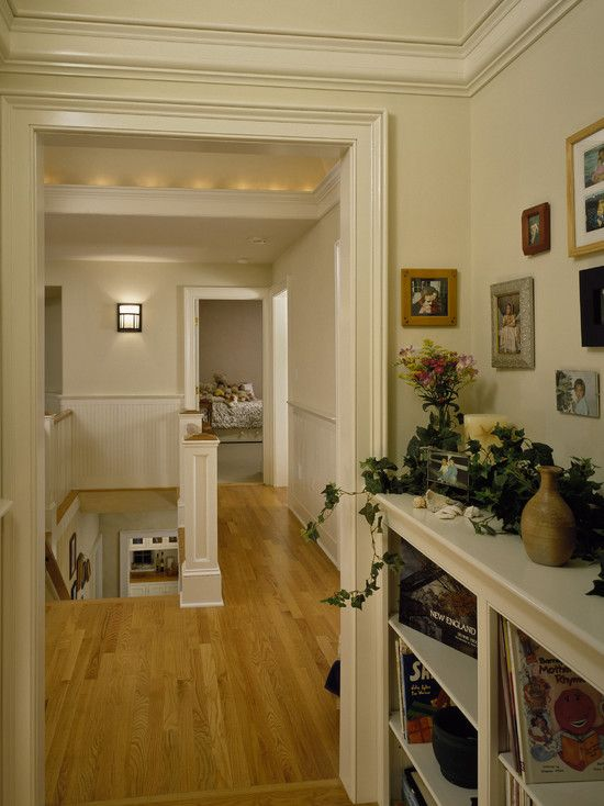 Traditional Spaces Navajo White Sherman Williams Design. I like this creamy wall color for the house.