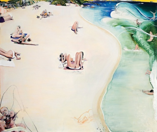 """91. Wategos Beach, Byron Bay (Summary)"" by Brett Whiteley 