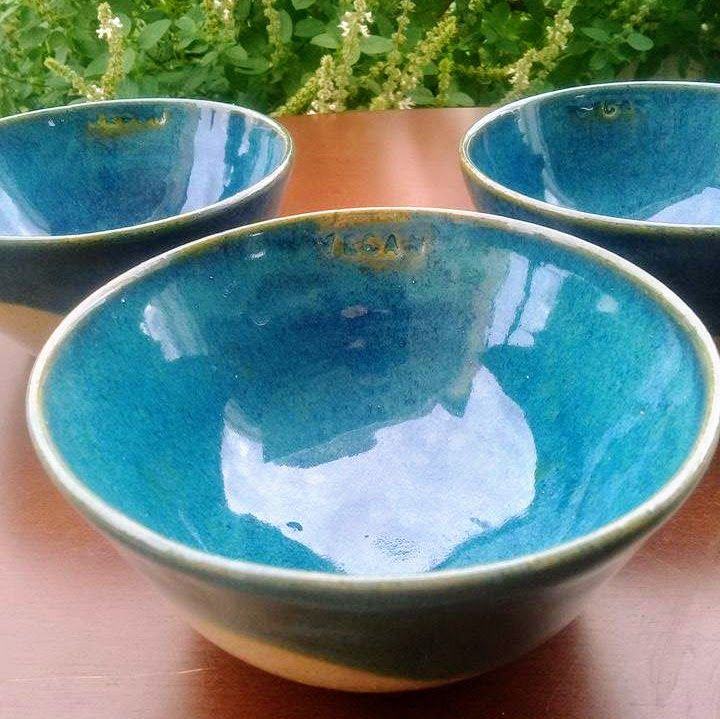 Confira aqui - Cumbucas verde azulada ou azul esverdeada - Estúdio Nim