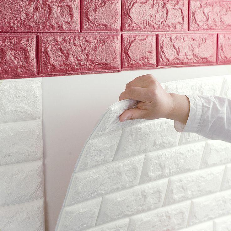 Europäische 3D Wandaufkleber Ziegel Muster Selbstklebende Tapete Schlafzimmer Wohnzimmer Dekorative Wasserdicht Aufkleber SL0676 in europäische 3D Wandaufkleber Ziegel Muster Selbstklebende Tapete Schlafzimmer Wohnzimmer Dekorative Wasserdicht Aufkleb aus Tapeten auf AliExpress.com | Alibaba Group