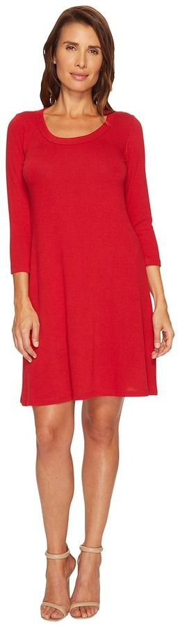 Karen Kane 3/4 Sleeve Sweater Dress Women's Dress