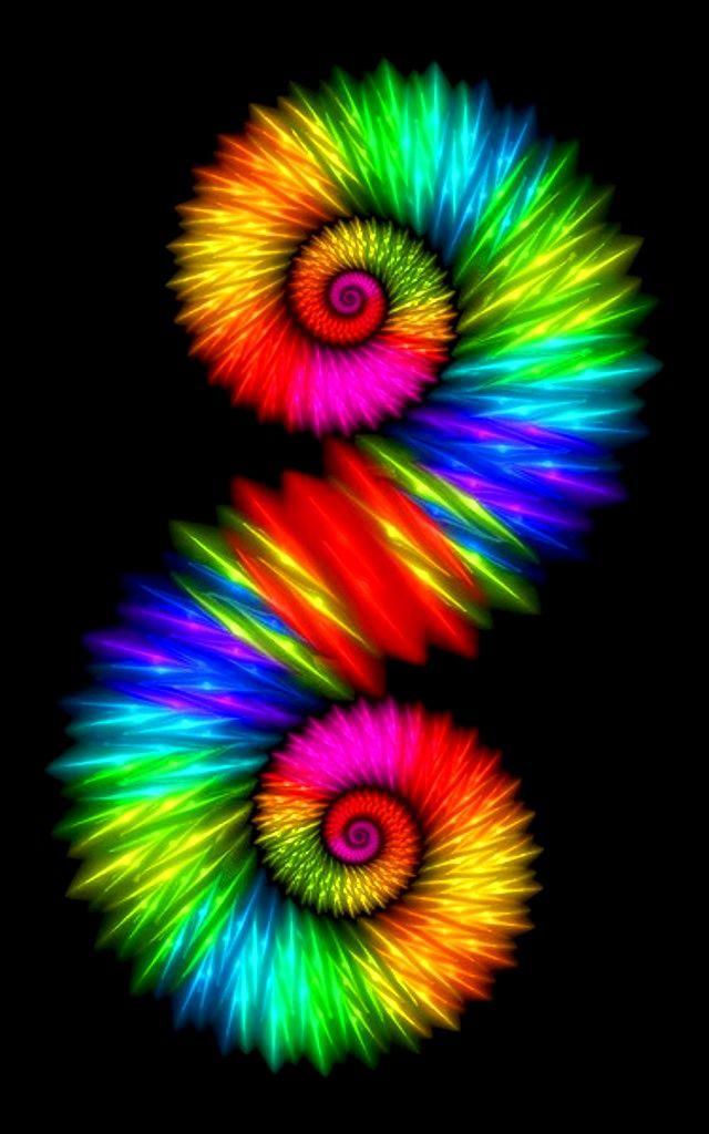 Rainbow colors ❖de l'arc-en-ciel❖❶Toni Kami Colorful spiral fractal art