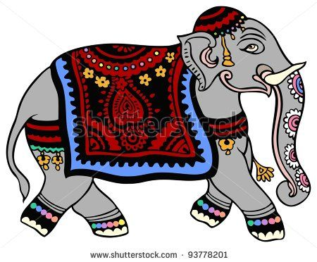 Mehndi Elephant Coloring Pages : Best india images elephants indian elephant and