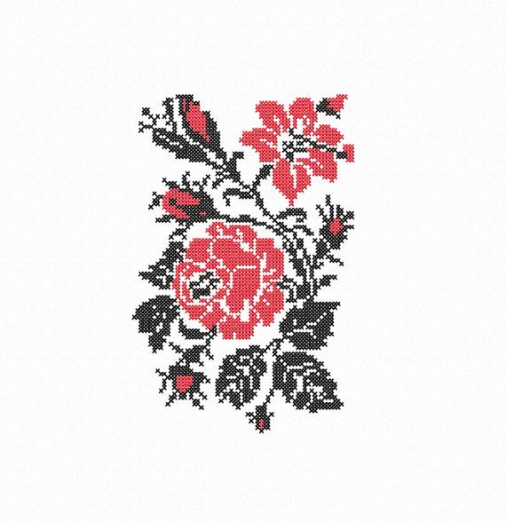 Roses Machine Embroidery Designs Floral Cross Stitch Pattern Hand Embroidery Pdf Flower Embroidery Designs Floral Cross Stitch Cross Stitch Patterns