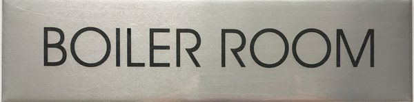 NYC DOB BOILER ROOM SIGN (A STURDY 2X7.75 ALUMINUM SIGN FOR NYC) | YOUR OFFICIAL STORE FOR NYC DOB SIGNAGE