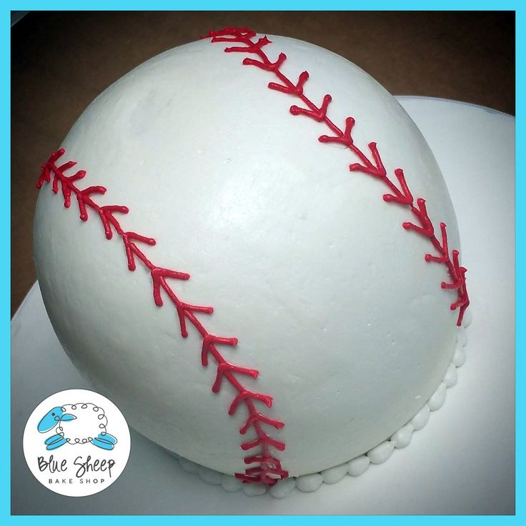 Buttercream Baseball Smash Cake