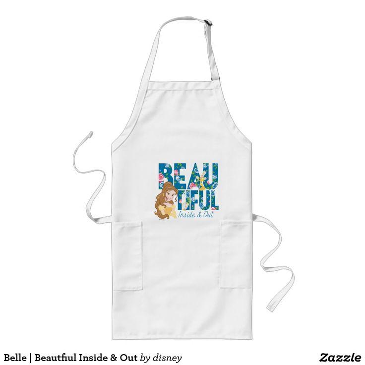 Belle | Beautfiul Inside & Out. Producto disponible en tienda Zazzle. Product available in Zazzle store. Regalos, Gifts. #delantal #apron