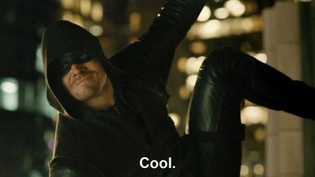 "#Arrow reaction gifs - ""Cool."""