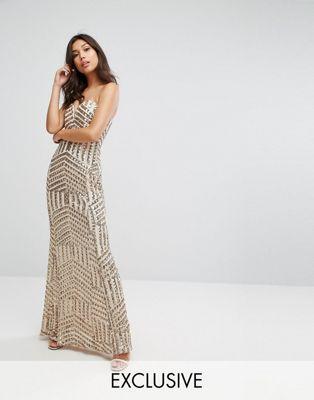 164620a8 TFNC Bandeau Sequin Maxi Dress   Bridesmaid dresses   Nude maxi dresses,  Dresses, Boutique dresses