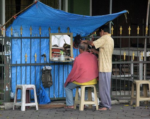 Street Barber / Indonesia, Yogyakarta | Flickr - Photo Sharing!