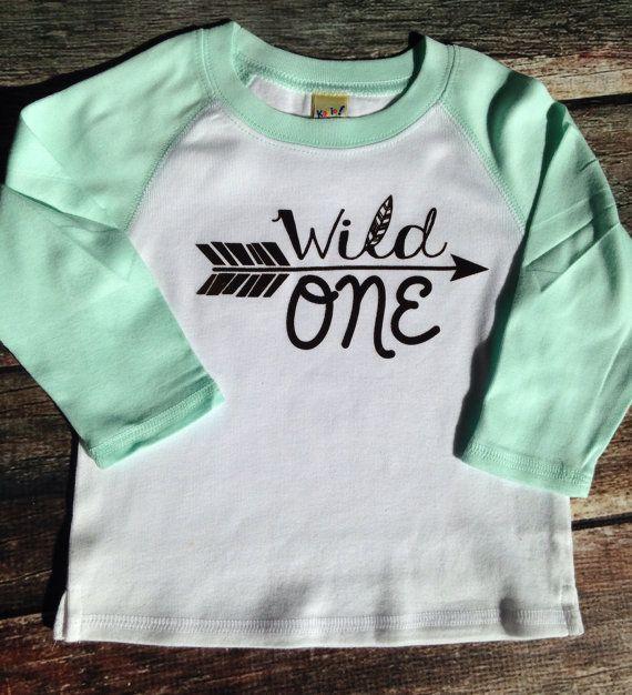 Wild One First Birthday Shirt Raglan Shirt First Birthday