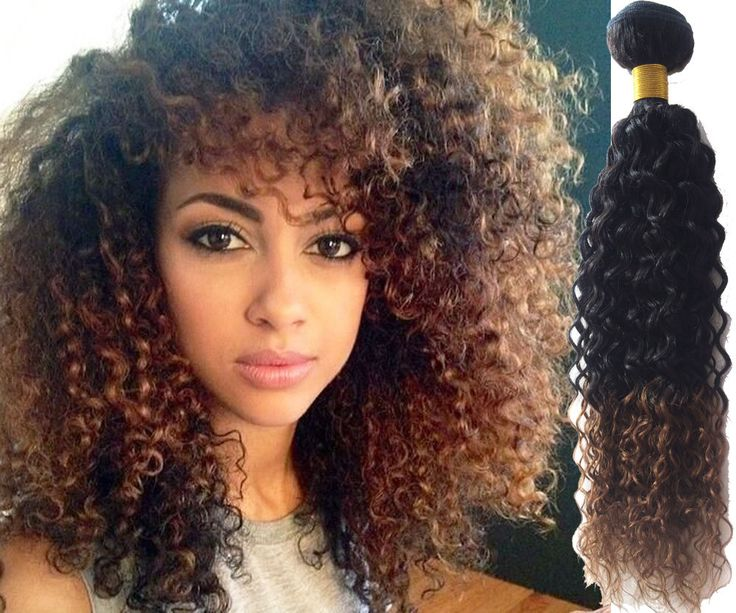 Stylish Ombre Curly Hair Wave Human Hair Extensions High