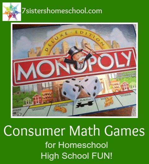 Consumer Math Games for Homeschool High School Fun!