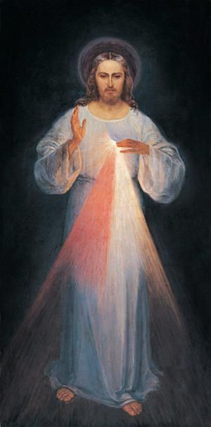 Learn How to Pray the Divine Mercy Chaplet on a Standard Rosary: The icon of the Divine Mercy (Vilnius image)