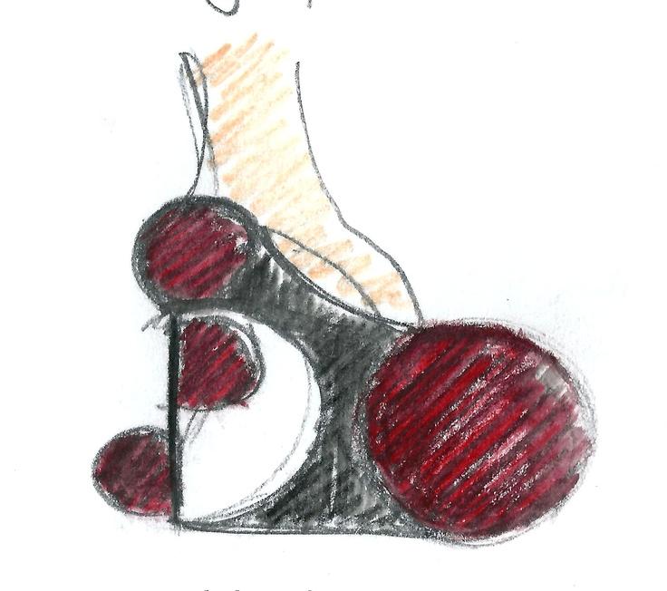 Heel Jewel Shoe drawing by Alessia Semeraro / I love pompons //