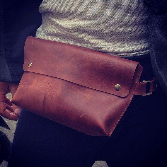 belt bag for men Belt bag men's belt bag by ArtLeatherDesign