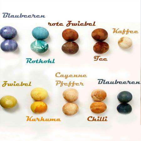 Natürliche Färbemittel für Ostereier