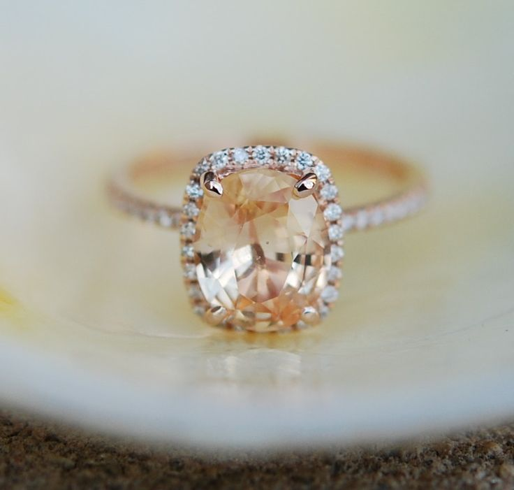 »Apricot Peach #Champagne #Sapphire #Ring 14k Rose от #EidelPrecious« #wedding #weddinginspiration #jewelry