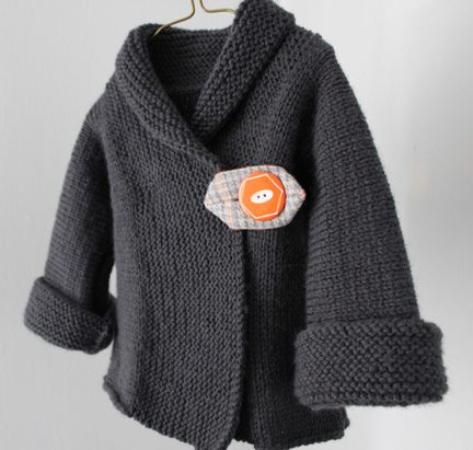 knit cardigan, love the closure!