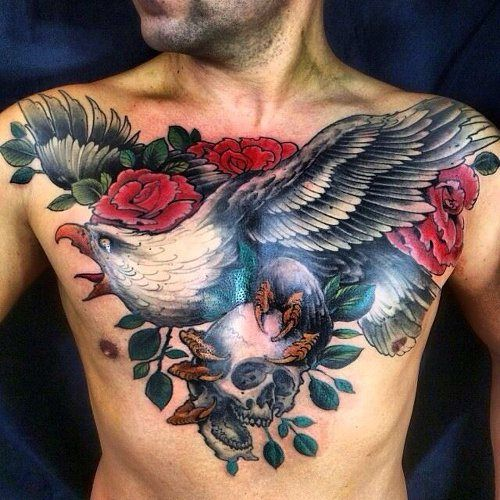 male chest tattoo ...