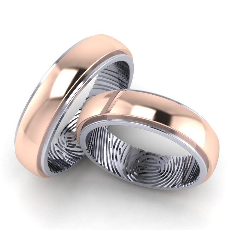 Обручальные кольца с отпечатками пальцев - это невероятно романтично! Только представьте: где бы Вы ни были, отпечаток пальца Вашей второй половинки будет всегда рядом с Вами. Такие украшения будут единственными на всей планете, потому что отпечатки пальцев уникальны для каждого человека. Современные ювелирные технологии позволяют сохранить точную копию отпечатков пальцев и нанести их на кольца.