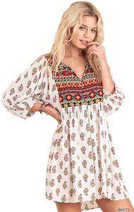 Bohemian Look Tunic Dress