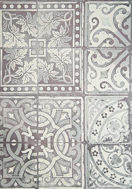 Paper Tiles Wallpaper Grey and White tiled effect wallpaper.