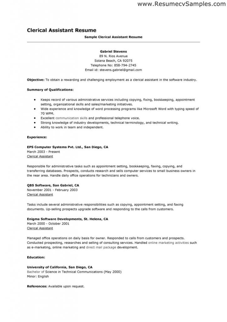 Clerical Resume Example Welcome For You To My Own Weblog In This Particular Time Period I M Going To Teach Resume Examples Resume Career Objective Examples