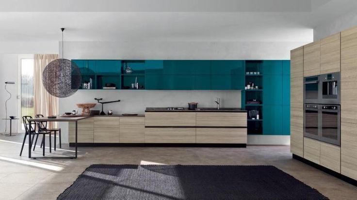 Mood Kitchen - Scavolini by Scavolini Kitchen, Living and Bathroom with Moooi Random Light