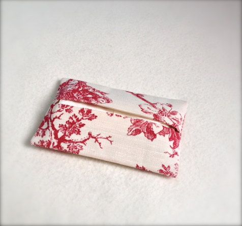 Pocket tissue case   toile de jouy fabric with linen by Kirstyflo, €12.00