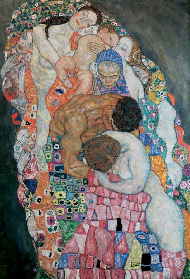 Gustav Klimt (1862-1918), ca. 1910-5, Death and Life ( Life detail).