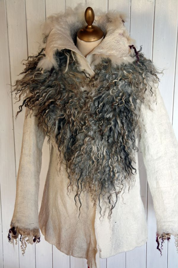 felted jacket and felted scarf by Brita Stein