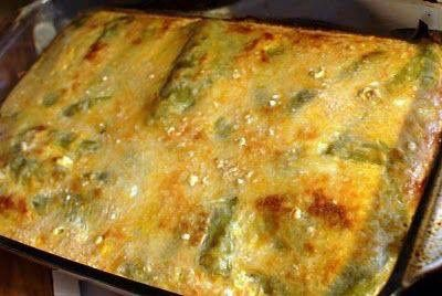 CHILI RELLENO CASSEROLE Ingredients: 2 (7 ounce) cans whole green chile peppers, drained 8 ounces Monterrey Jack cheese, shredded 8 ounces Longhorn or Cheddar cheese, shredded 2 eggs, beaten 1 (5 ounce) can evaporated milk 2 tablespoons all-purpose flour 1/2 cup milk 1 (8 ounce) can tomato sauce Directions 1.Preheat oven to 350 degrees F (175 degrees C). Spray a 9x13-inch baking dish with cooking spray. 2.Lay half of the chilies evenly in bottom of baking dish. Sprinkle with half of...
