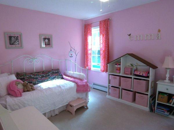 Kinderzimmer gestalten Rosa metall rahmen gestell bett baby emma