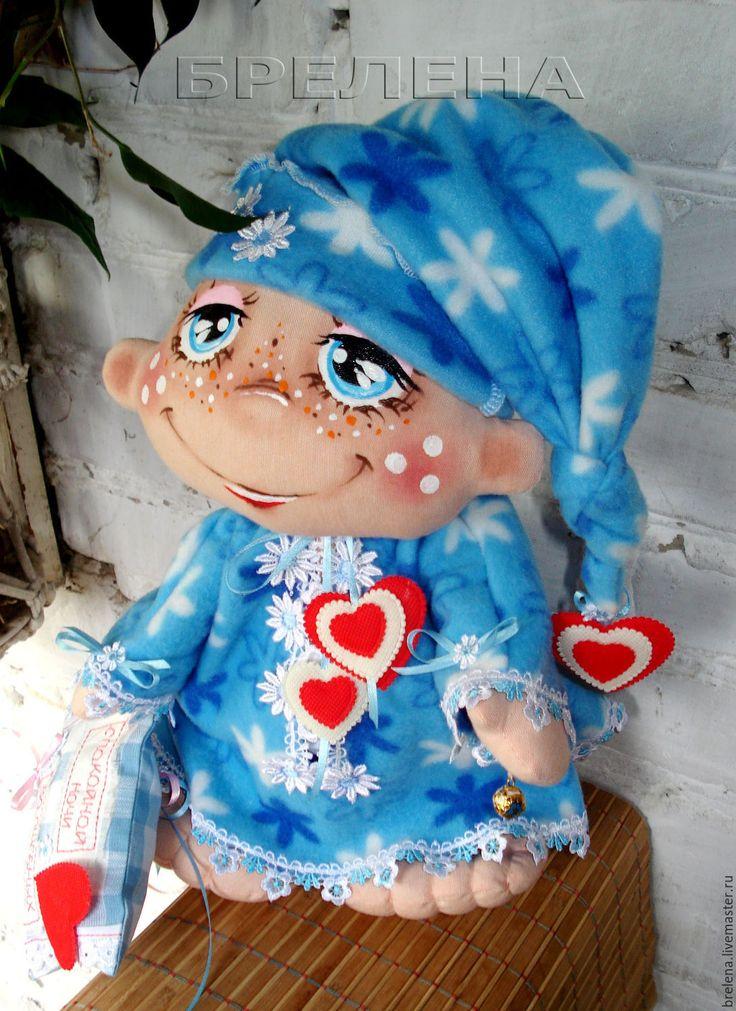 Купить Текстильная кукла большой Сплюх Баюнка - волшебных снов хранитель. - текстильная кукла