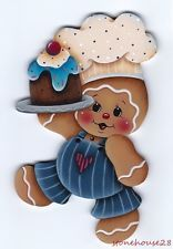 HP GINGERBREAD Baker FRIDGE MAGNET