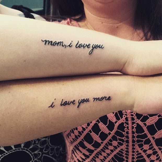 Daughter: Mom, I love you Mother: I love you more